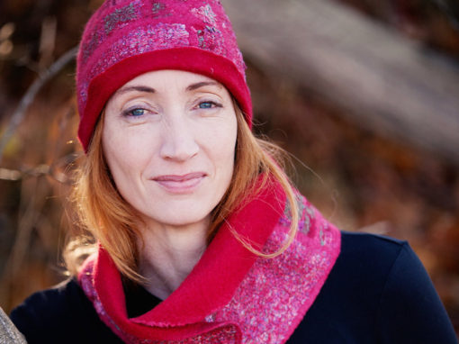 Pink Hat & Scarf, Fall 2016