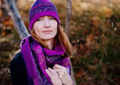 Purple Hat & Scarf, Fall 2016