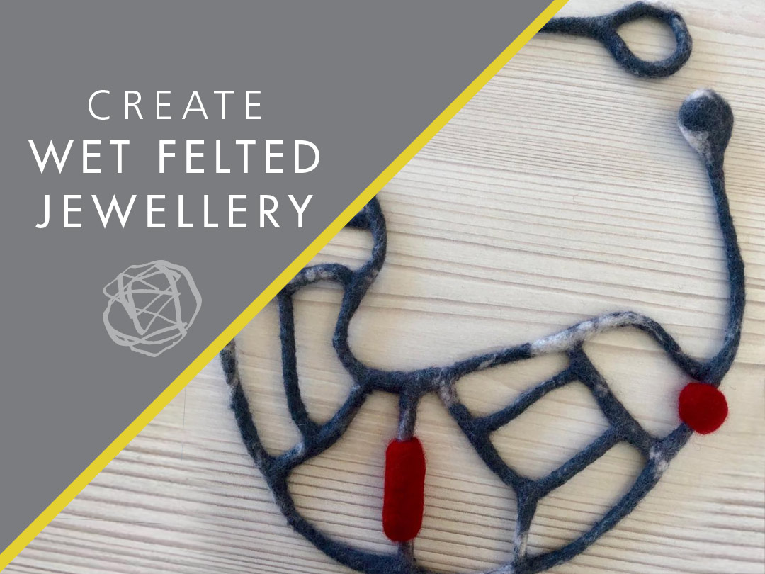 Image of a wet felted necklace